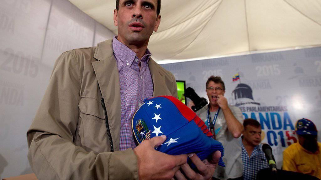 Wahlsieg und fast eine Zweidrittelmehrheit: Venezuelas Oppositionsführer Henrique Capriles
