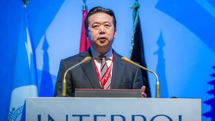 Interpol-Präsident Meng Hongwei ist Ende September bei einem Besuch in seinem Heimatland China verschwunden. China ermittelt gegen ihn. Nun gab er seinen Rücktritt bekannt. (Archivbild)