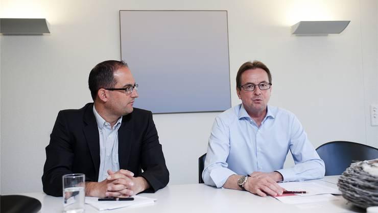 Patrick Bürgi (links) soll Heinz Germann folgen