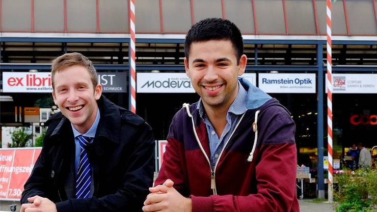 Filip Winzap (links) und Adil Koller.