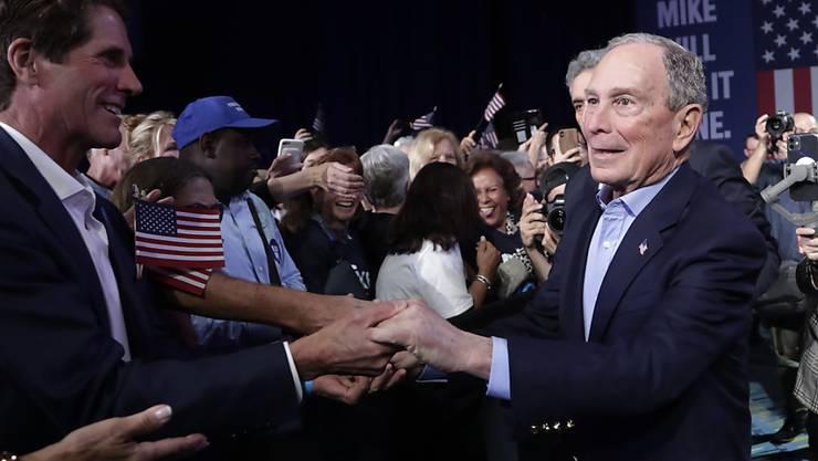 Der frühere Bürgermeister von New York, der Multimilliardär Michael Bloomberg, gibt seine Bewerbung um die Präsidentschaftskandidatur der Demokraten in den USA auf. (Bild vom 3. März)