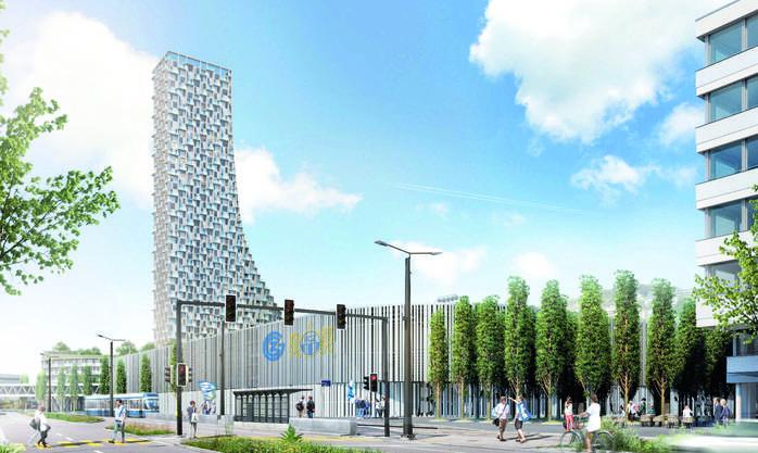 Ein 150-Meter-Hochhaus mit viel Grünfläche darunter prägt «Mi-Ca-Do Kollektiv».