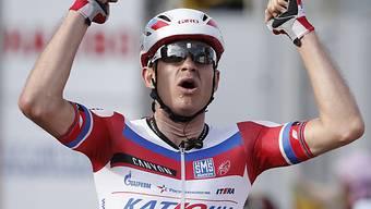 Alexander Kristoff setzte sich in Saint-Etienne im Zielsprint durch