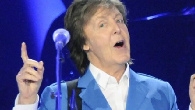 Wieder voll auf dem Damm: Paul McCartney gestern in Albany