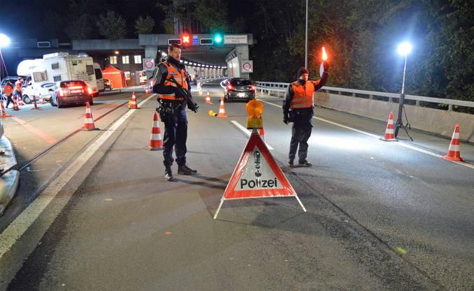 600 Polizisten führten schweizweit Kontrollen durch.