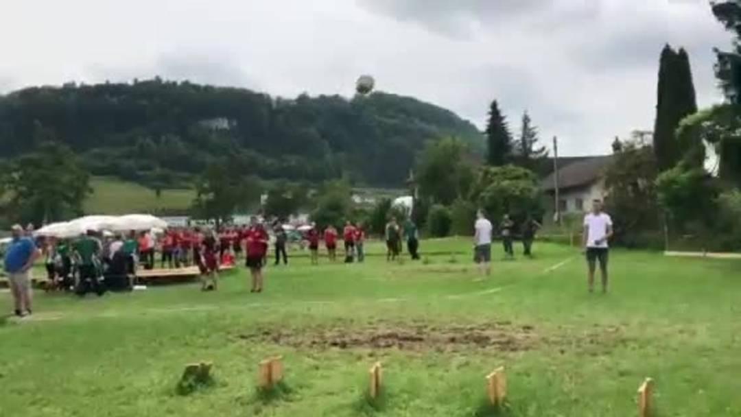 Eidgenössisches Turnfest, 22.6.2019, STV Herznach, Steinstossen