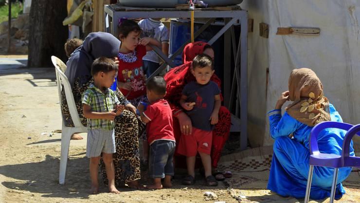 Syrische Flüchtlinge in einem Auffanglager im Libanon. (Archivbild)