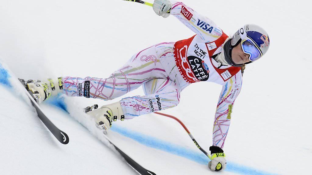 Lindsey Vonn distanzierte die Konkurrenz im ersten Training zu den Abfahrten in La Thuile (ITA) deutlich