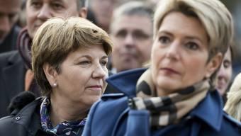 Zwei Bald-Bundesrätinnen? Viola Amherd und Karin Keller-Sutter letzte Woche an der Wahlfeier für den neuen Ständeratspräsidenten Jean-René Fournier in Sitten.