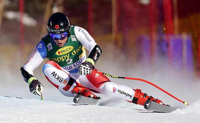 Mauro Caviezel schafft es in Lake Louise wie schon im Vorjahr aufs Podium