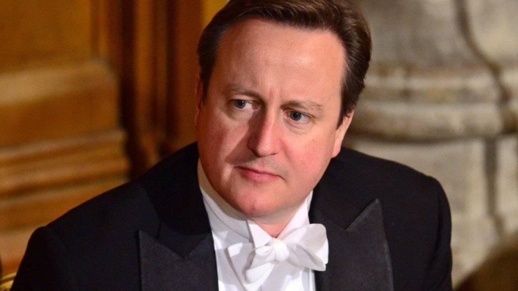 Cameron vergleicht den Kampf gegen den Terrorismus mit dem Kampf gegen Hitler im zweiten Weltkrieg. Der britische Regierungschef hielt seine Rede anlässlich eines Banketts in London.