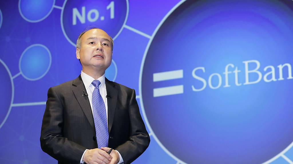 Der japanische Investor Softbank hat erneut von Börsengängen seiner Beteiligungen profitiert - im Bild Softbank-Chef Masayoshi Son. (Archivbild)