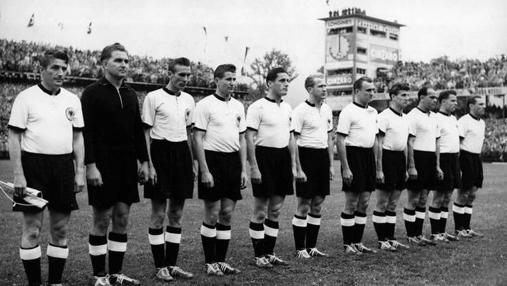 Die späteren Weltmeister vor dem Finalspiel.