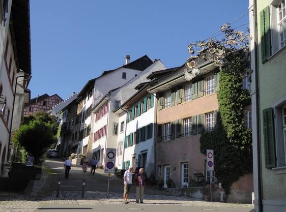 Die Altstadt von Kaiserstuhl (Aargao)