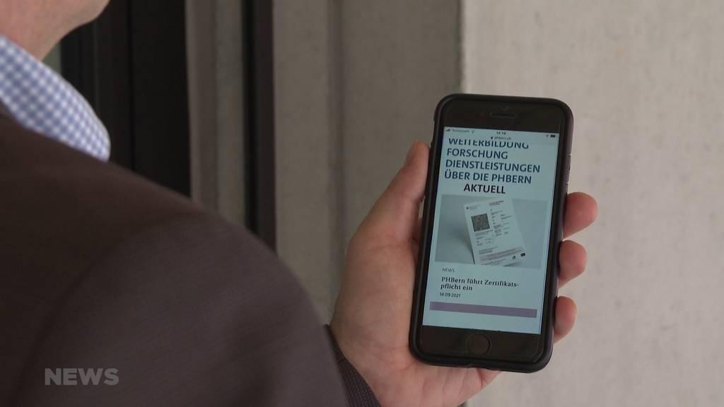 PH Bern verhängt Zertifikatspflicht: Für Schüler ohne Zertifikat gilt Fernunterricht