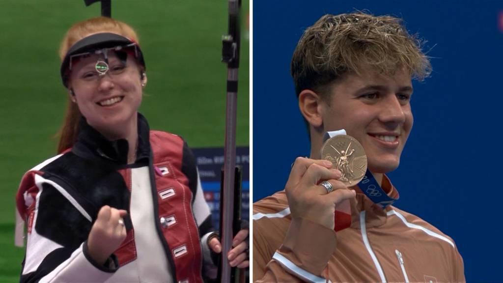 Medaillen-Segen für die Schweiz: Schiess-Gold und Schwimm-Bronze