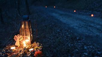 Der Lichterweg in Balsthal lädt zu besinnlichen Momenten in der Weihnachtszeit ein.