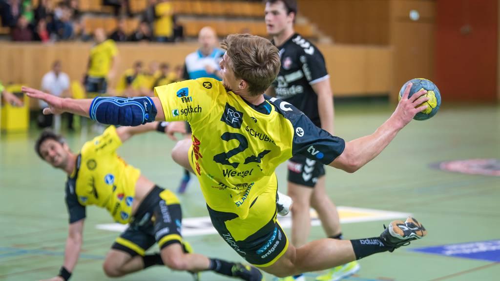 Tobias Wetzel (vorne) und Bo Spellerberg wollen die Serie gegen BSV Bern ausgleichen.