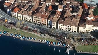 Blick auf die Gemeinde Bissone (Archiv)