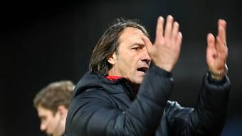 Locarno-Coach Stefano Maccoppi verwirft die Hände: Wieder verloren.