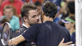 Nicht gemeinsam beim Laver Cup: Stan Wawrinka und Roger Federer.