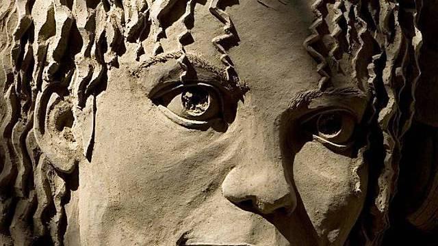 Jackson als Sand-Skulptur