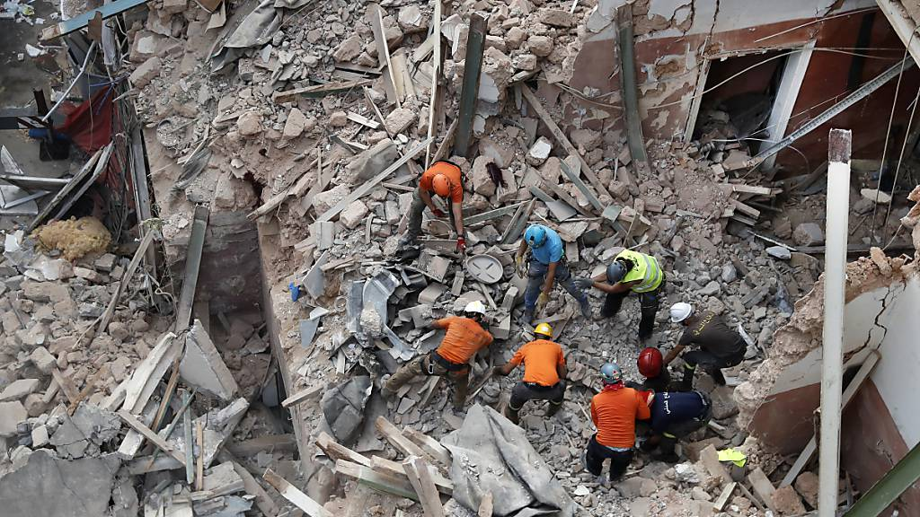 Suche nach Verschüttetem in Beirut geht weiter