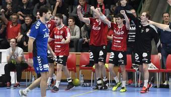 Der HSC Suhr Aarau gewinnt das zweite Aargauer NLA-Handball-Derby der Saison gegen den TV Endingen deutlich