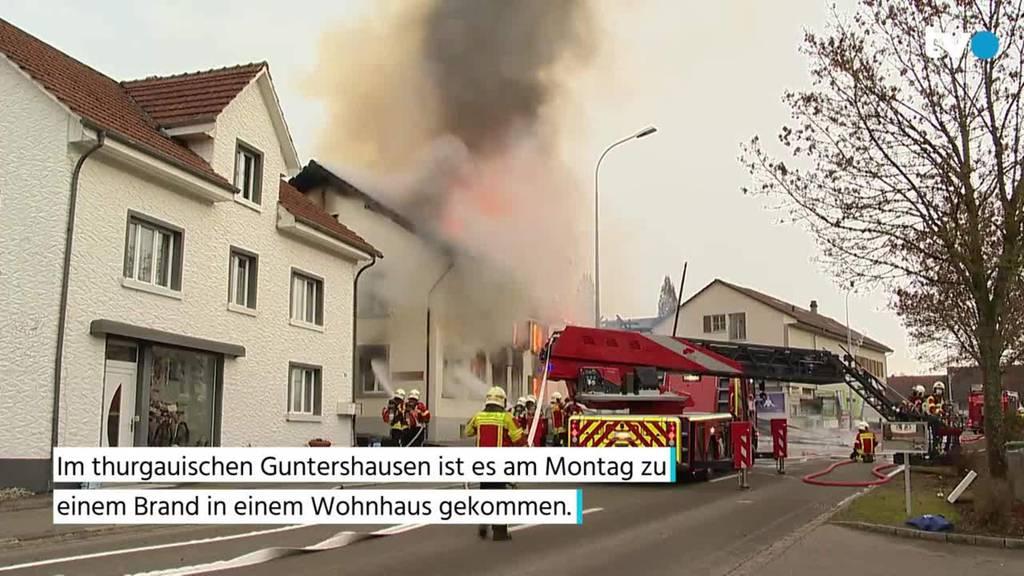 Vollbrand in Wohnhaus in Guntershausen – mehrere hunderttausend Franken Schaden