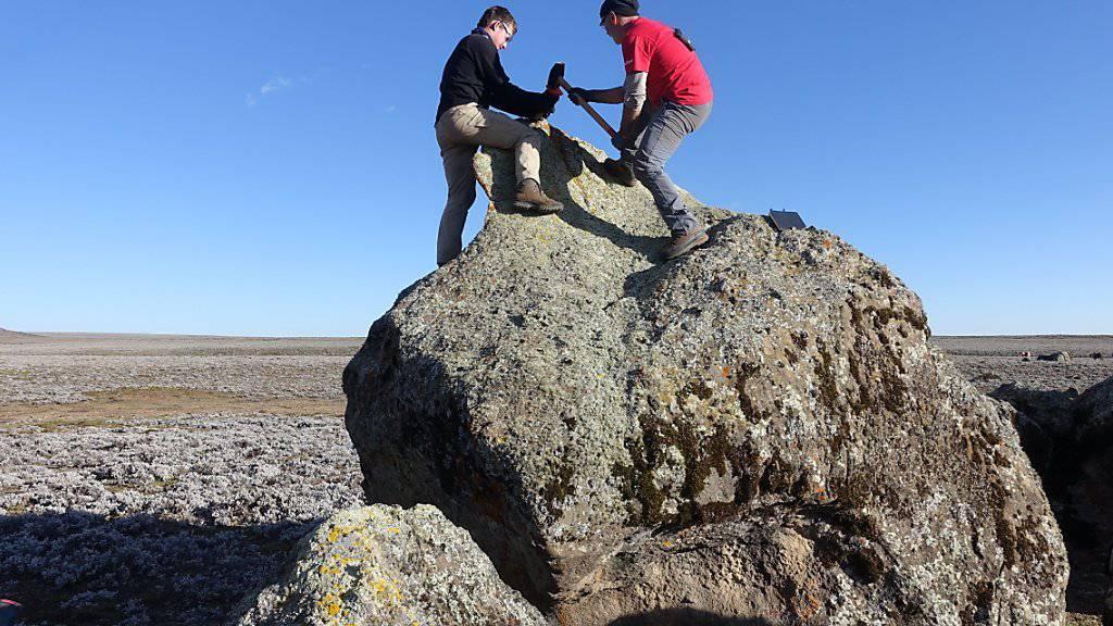 Anhand von Gesteinsproben haben Forschende der Uni Bern die Vergletscherung der Region während der letzten Kaltzeit rekonstruiert.