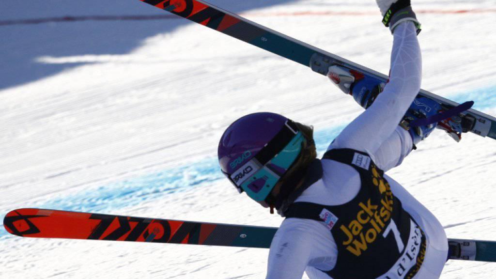 Sturz mit Folgen: Priska Nufer brach sich auf der Abfahrtsstrecke in Val d'Isère die Nase