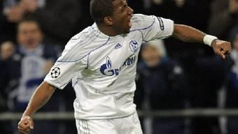 Der Peruaner Farfan erzielte das 1:0 für Schalke