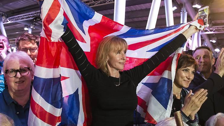 Brexit-Befürworter bei einer Abstimmungsveranstaltung.