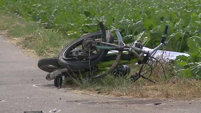 Der Fahrer dieses Töfflis überlebte den Unfall nicht.