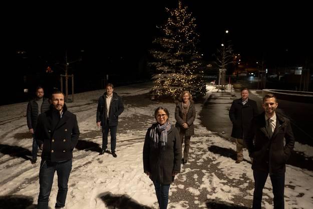 Vorstand GLP Uitikon v.l.n.r.: Ulrich Braun, Danijel Sljivo, Tobias Britt, Gaby Bosshard Boesch, Sonja Gehrig, Beat Rüfenacht, David Vetsch