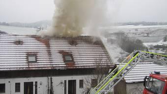 Feuer im Dachstock