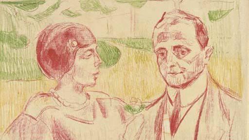 «Elsa und Curt Glaser» von Edvard Munch.