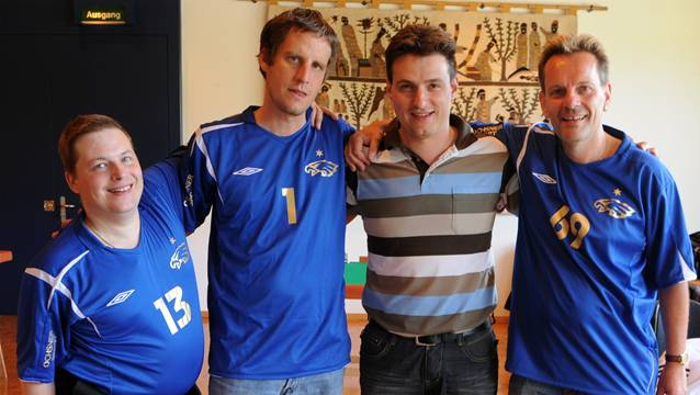 Birmensdorf mit John Appenzeller, Serge Endrizzi, Michael Nyffenegger, Remo Steiger (v.l.) verpasste den Gesamtsieg.