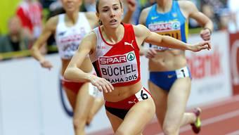 Selina Büchel läuft wie bei der EM in Prag als Erste durchs Ziel