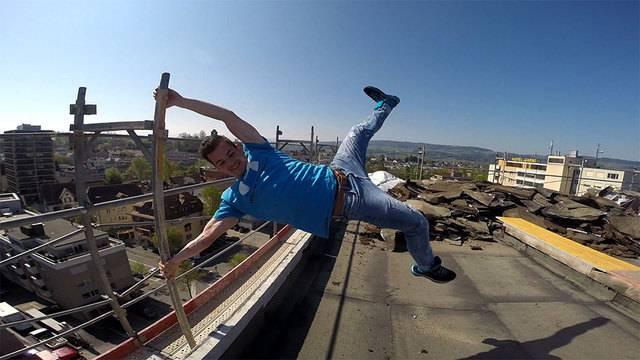 Extrem-Sportler Nicolas Fischer