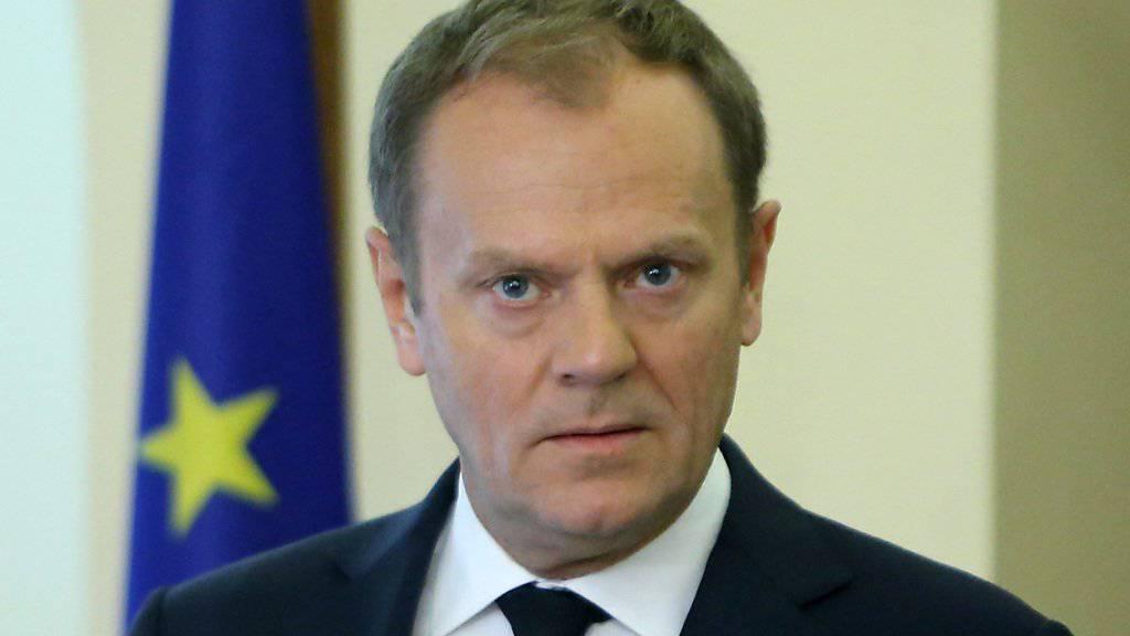 EU-Ratspräsident Donald Tusk verkündet am Freitagnachmittag eine Einigung zwischen der EU und der Türkei im Flüchtlingsabkommen.