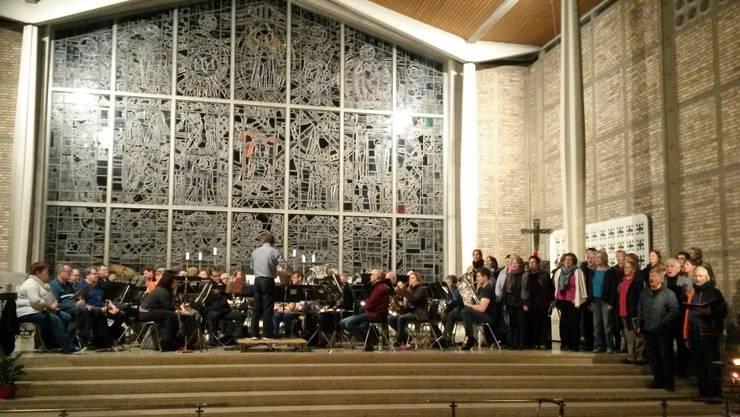 Probe Stadtmusik Solothurn und Chor tAktLoS