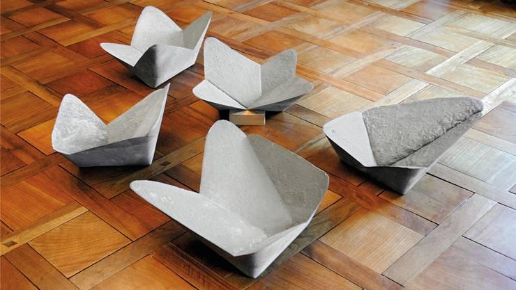 Die fertigen Skulpturen aus Mörtel