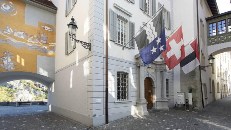 Blick auf das Stadthaus, den Sitz der Badener Verwaltung.