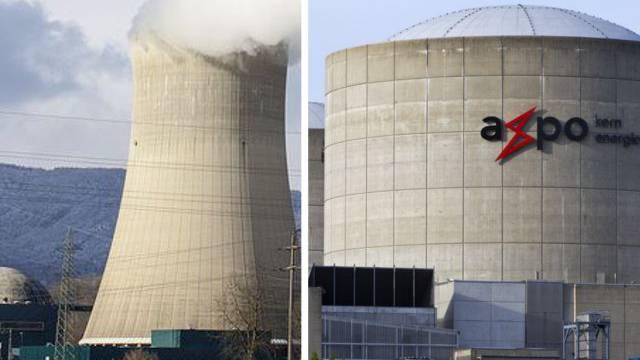 Könnten laut einem Bericht im Nachrichtenmagazin «Der Spiegel» wie Atombomben explodieren: Die Druckwasserreaktoren der Atomkraftwerke Gösgen (links) und Beznau.