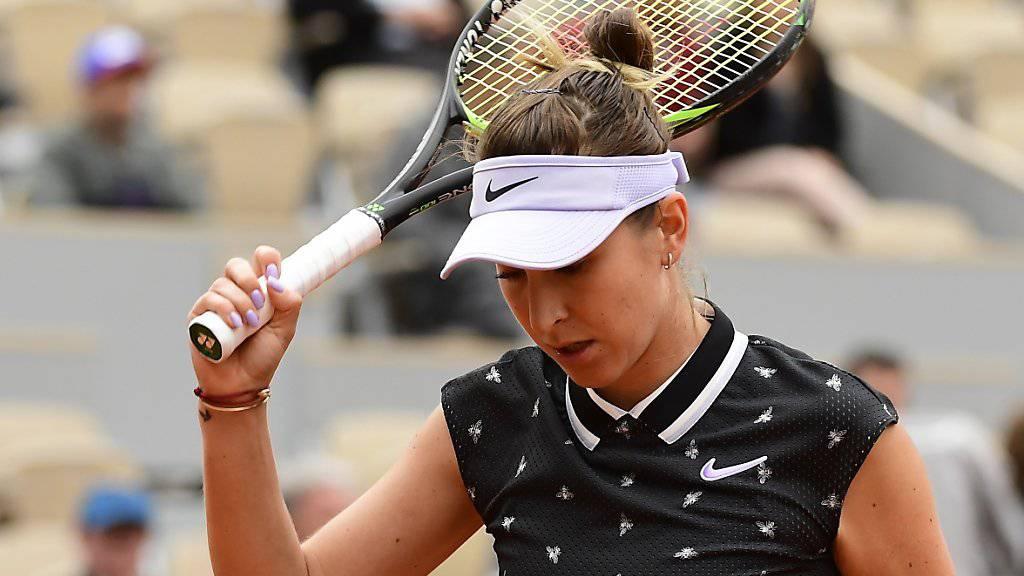 Auf Belinda Bencic wartet am Donnerstag eine nervenaufreibende Schlussphase ihres Zweitrunden-Matches