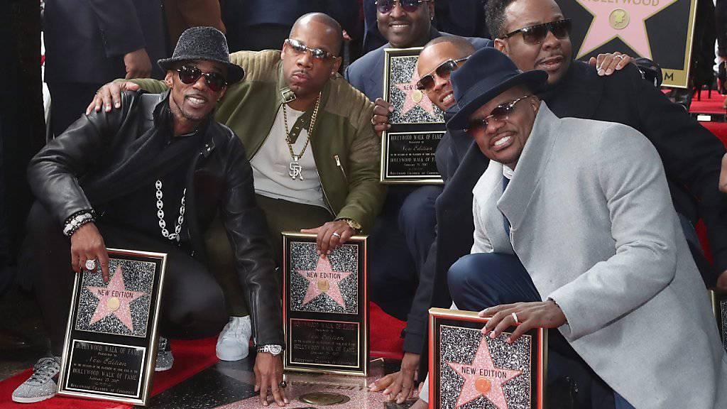 Die Boygroup-Pioniere um Bobby Brown, New Edition, haben einen Stern auf dem Walk of Fame.