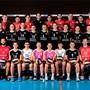 So präsentieren sich die beiden 1.-Liga-Teams des VBC Kanti Baden. zvg