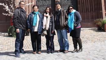 Es soll nicht nur bei einem Zwischenhalt bleiben: Ricah (Mitte) und ihre Familie fühlten sich in Basel wohl.