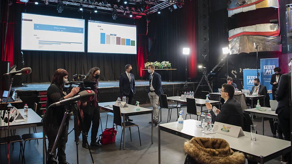 Sicht in das Solothurner Wahlzentrum.